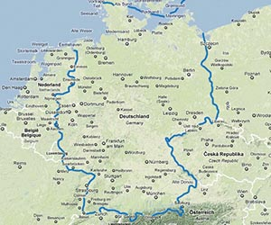 A Map Of Europe Without Germany Mapy Swiata Liverpool I Drezno